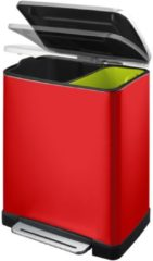 Fellowes E-Cube recycling pedaalemmer 28+18 ltr EKO, rood