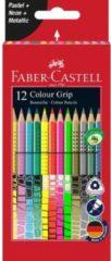 Faber Castell Kleurset Faber-Castell GRIP pastel, neon en metallic 12 stuks