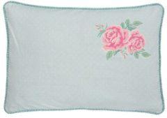 Roze Clayre & Eef | Kussen incl. vulling 35*50 cm | Pink | 100% Katoen | Rechthoekig | Bloemen | SCF36