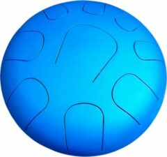 Blauwe LIDAH® Steel Tongue Drum - Lydian Constellation Series (28 cm) – Handpan - Lotus Drum – Klankschaal – Meditatie - Yoga