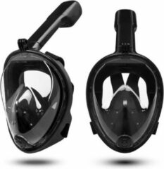 Idaodan duikmasker zwart transparant full face duikbril met snorkel snorkelset zwart snorkelmasker inc. gopro aansluiting snorkelset