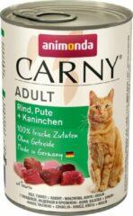 Animonda Carny Adult Rund, Kalkoen + Konijn 6 x 400 gram ( Katten natvoer )