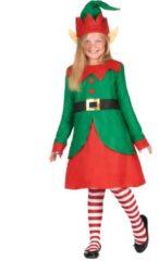 B&W Filter WELLY INTERNATIONAL - Kerstelf kostuum voor meisjes - 104/116 (4-6 jaar) - Kinderkostuums