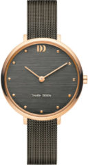 Roze Danish Design watches edelstalen dameshorloge Amelia Rosegold Grey Bark IV71Q1218