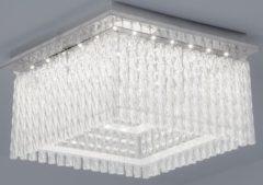 KIOM LED Deckenleuchte Aurora Square K5 Glaskristalle 36x36cm 21W 4000K chrom 10735