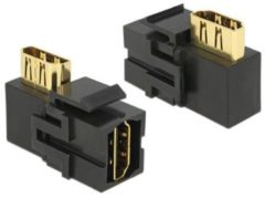DeLOCK Keystone module HDMI (v) - HDMI (v) haaks - versie 2.0 (4K 60Hz) / zwart