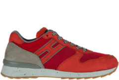 Rosso Hogan Rebel Scarpe sneakers uomo in pelle r261