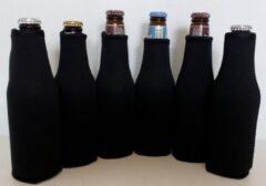Koozie.eu - 6 stuks bierfleshouder- flessen koel houder | bierfles | zwart