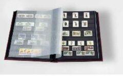 Leuchtturm Albenverlag Postzegelinsteekalbum met 32 zwarte bladzijden - Basic S32 rood