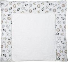 Meyco aankleedkussenhoes dieren wit/zwart 85x75 cm