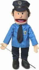 Lichtblauwe Handpop Politieagent Sillypuppets 25''