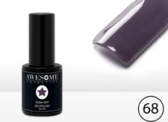Awesome #69 Donker Paars Gelpolish - Gellak - Gel nagellak - UV & LED