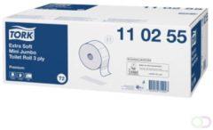 Tork Premium Extra Soft Toiletpapier Mini Jumbo 3-laags - Wit - 120m/rol - 12 rollen
