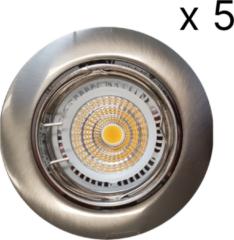 Roestvrijstalen Verlichtingsset Sanimex Njoy 5 LED Spots 8x7 cm RVS Look