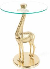 Kayoom Bijzettafel 'Giraf' kleur goud, 40cm