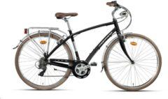 Montana Bike 28 ZOLL MONTANA LUNAPIENA RAD CITYRAD FAHRRAD ALUMINIUM 21 GANG SHIMANO Citybike Herren schwarz