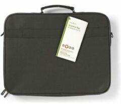 Zwarte Nedis Notebook-Tas   15 - 16   Riem dragen   2 Compartimenten   50 mm   300 mm   390 mm   Polyester