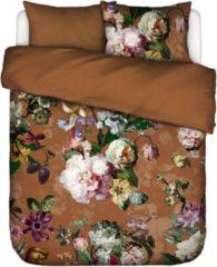 Essenza Home dekbedovertrek flanel Fleurel leather brown - 1-persoons (140x200/220 cm incl. 1 sloop)