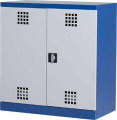 Povag Chemiekast   gevaarlijke stoffen opslag   chemicaliënkast   100x95x50 cm   Blauw/grijs   GWP-104
