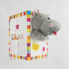 Grijze Cherry Belly Nijlpaard - warmtekussen - kersenpitkussentje - magnetronknuffel - inatura