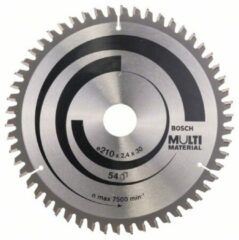 Cirkelzaagblad Multi Material, 180 x 30/20 x 2,4 mm, 48 Bosch Accessories 2608640507 Diameter:180 mm Aantal tanden:48 Dikte:2.4 mm