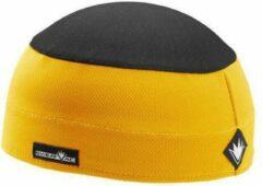 Sweatvac ventilator cap geel / zwart