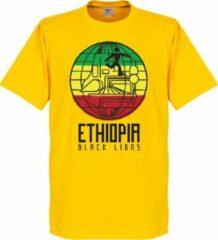 Gele Retake Ethiopië Black Lions T-Shirt - 3XL