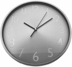 Orange85 Wandklok - Zilver - Minimalistisch - Ø 30cm - Stil uurwerk - Modern - Industrieel - Klok - Klokken