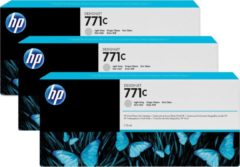 HP 771C - Inktcartridge / Licht Grijs / 3-Pack / 775 ml (B6Y38A)