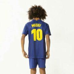 Blauwe Holland FC Barcelona Messi Voetbaltenue Thuis 2019-2020 Kids