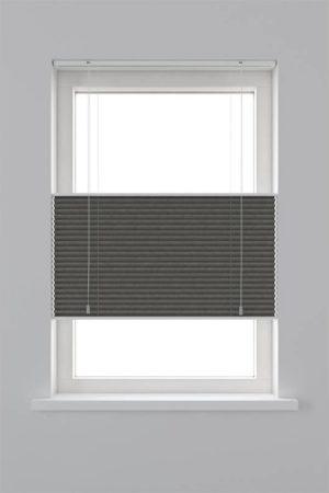 Afbeelding van Witte Decosol Plisségordijn Lichtdoorlatend - Top Down Bottom Up - Grijs - Maat: 120 x 180 cm