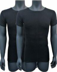 Naft extra lange t shirts 2pack zwart L-XL
