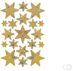 Stickers Herma 3902 DECOR ster 6-puntig, goud, hologram