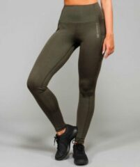 Marrald High Waist Pocket Sportlegging | Army Groen - XL dames yoga fitness