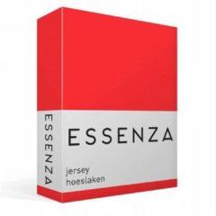 Essenza Mako Jersey - Hoeslaken - Tweepersoons - 140/160x200/220 cm - Red