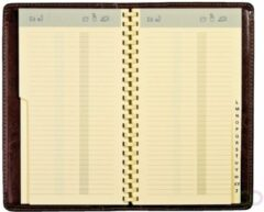 Adresboek - Notaphone - 'Palermo' - Brepols - Zwart - Kunstleder - Spiraal - 10 x 17.3 cm