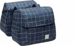 Zwarte New Looxs Check Joli Dubbele Fietstas - 37 liter – Blauw