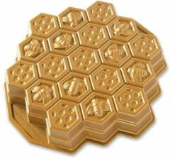 Gouden Nordic Ware Honeycomb bakvorm voor pull-apart cake 30 x 30 cm