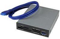 Grijze StarTech.com 3,5'' Interne multi-kaartlezer met UHSII ondersteuning USB 3.0 memory card reader geheugenkaartlezer