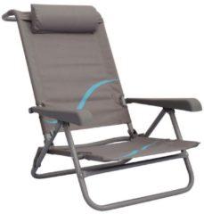 Strandstuhl merfach verstellbare Rückenlehne Strandliege Klappstuhl Anglerstuhl Campingstuhl Meerweh grau/blau