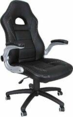 ''merkloos'' Bureaustoel - Kantoorstoel - Ergonomisch - Verstelbaar - Kunstleer - Zwart - 49x52x126