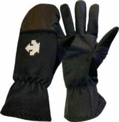 Witte Descente Wombat - Fietshandschoenen Winter - Met Regenbescherming - Zwart - Maat M
