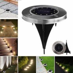 Meco Solar Powered 12 LED Buried Light Under Ground Lamp Outdoor Path Garden Decor