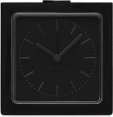 LEFF amsterdam - Block - Alarm - Zwart/Zwart - Design - Staande Klok