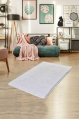 Witte Nerge.be | Milano White 70x120 cm | %100 Acrylic - Handmade | Decorative Rug | Antislip | Washable in the Machine | Soft surface