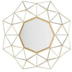Goudkleurige Beliani Gaillac Wandspiegel Metaal 6 X 80 Cm
