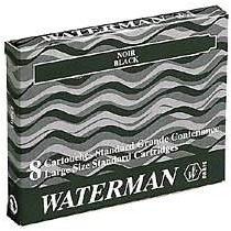 Afbeelding van Blauwe Waterman inktpatronen Serenity blue lang doos á 8 stuks