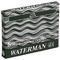 Blauwe Waterman inktpatronen Serenity blue lang doos á 8 stuks