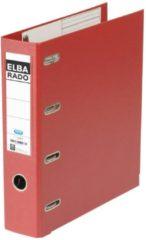 Rode Elba Rado Plast ordner met dubbele mechaniek, donkerrood, rug van 8 cm