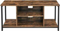 Trend24 - TV meubel - Dressoir voor de TV - TV Kast - Vintage - Rustiek Bruin